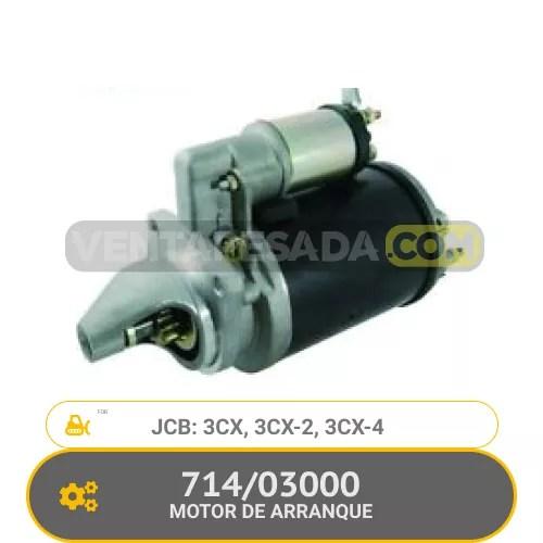 714/03000 MOTOR DE ARRANQUE 3CX, 3CX-2, 3CX-4, JCB