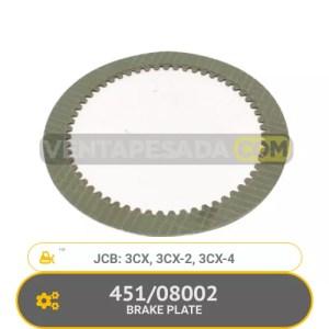 451/08002 BRAKE PLATE 3CX, 3CX-2, 3CX-4, JCB