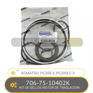 706-75-10402K KIT DE SELLOS MOTOR DE TRASLACION PC200-3, PC200LC-3, KOMATSU