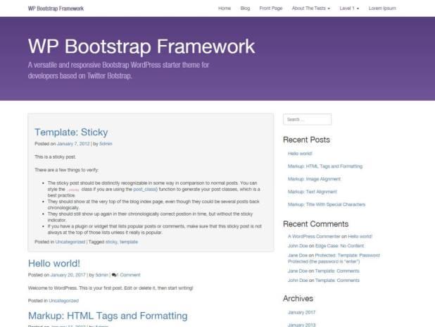 WP Bootstrap Starter