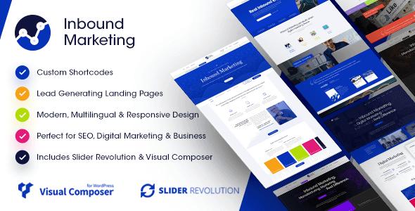 Inbound Marketing | Inbound, Landing Page WordPress Theme