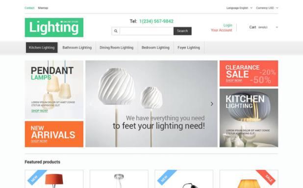 Lighting Store PrestaShop Theme