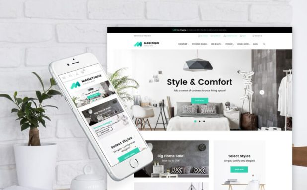 Magetique - Modern Furniture Magento Theme