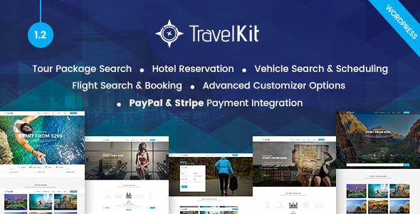 Travelkit - The Full-fledged Tour & Travel WordPress Theme