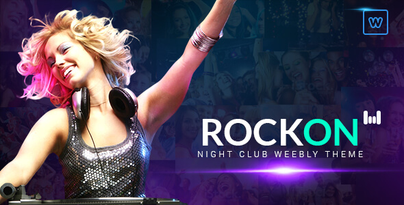 Rockon - Night Club Weebly Theme