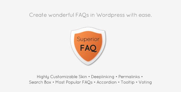 Superior FAQ - WordPress plugin