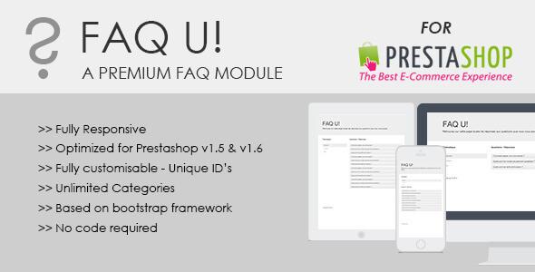 FAQ U! module for Prestashop