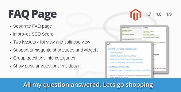 FAQ Page Magento Extension