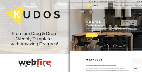 Kudos - Weebly Template