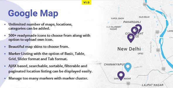 WP Advanced Google Maps