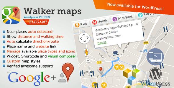 Google Maps Neighborhood Walker for WordPress