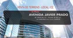 Venta Local Moderno – Terreno en Avenida Javier Prado