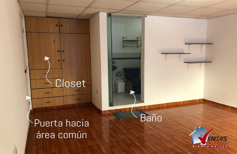 Habitación con baño incorporado independiente
