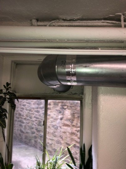 Dryer Vent Away - Dryer ductwork in commercial building