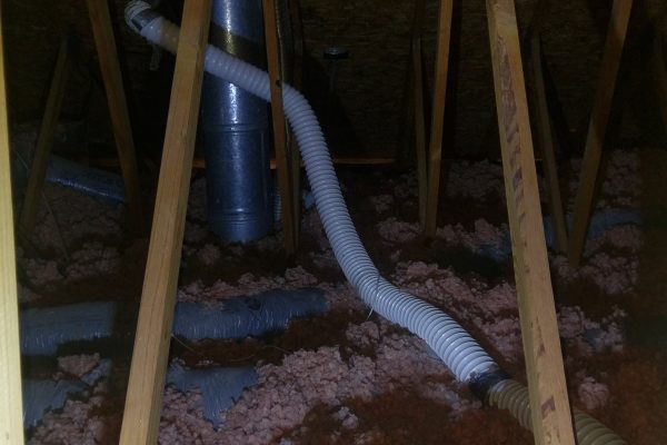 This material is dangerous for dryer venting.  It was clogged with lint so we decided replacement was the best option.