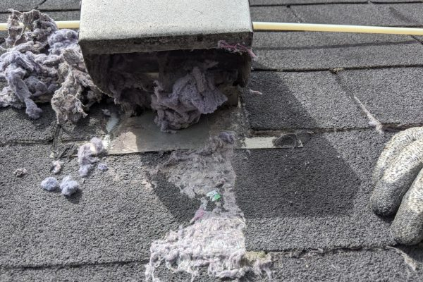 clogged dryer roof vent