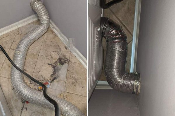 vent busters dryer installation before after 1