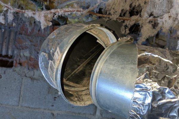 broken dryer vent elbow