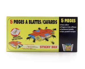 Pièges collants anti cafards Sticky Box