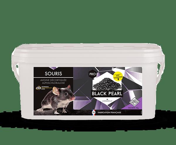 Avoine décortiquée à base d'alphachloralose Black Pearl. Produit anti souris pro.