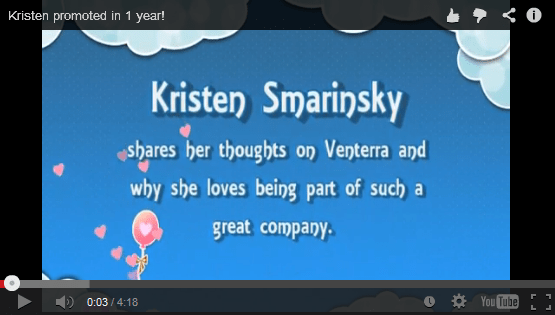 Kristen gets promoted in 1 year!