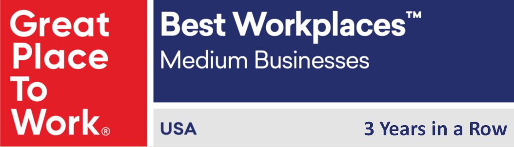We've Been Named a Great Place to Work® Best Medium Workplace for a 3rd Time!