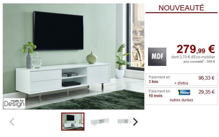 meuble tv carluta pas cher meuble tv