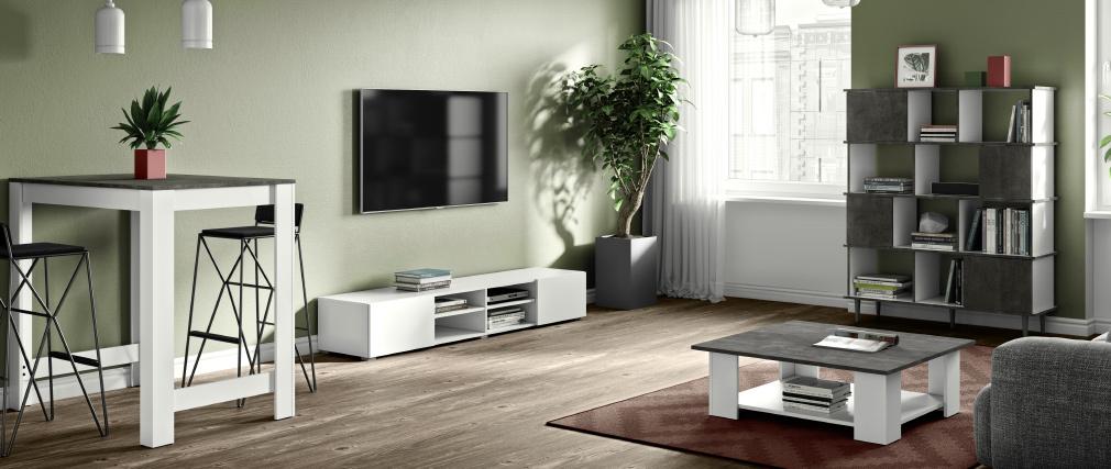 meuble tv erra design blanc mat pas