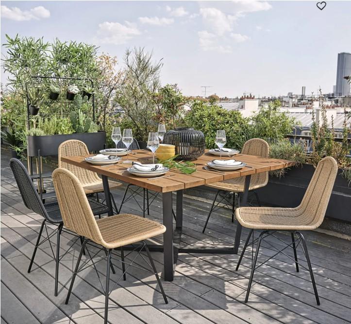 table de jardin maisons du monde jardin