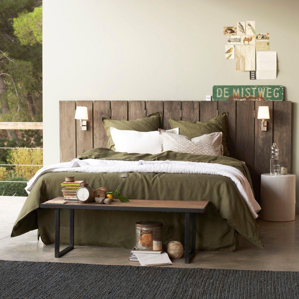 tete de lit paravent alam en manguier