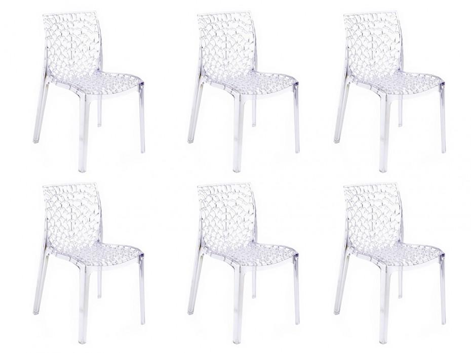 lot de 6 chaises diademe empilables en