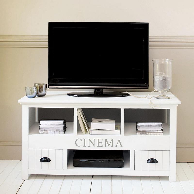 bois blanc newport meuble tv maisons