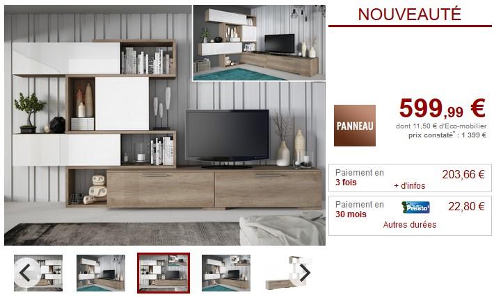 mur tv modulable avec rangements