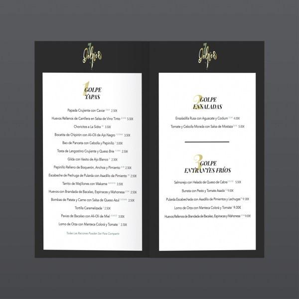 Carta vinos 7Golpes, para Enlazarte Comunicación