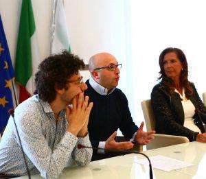 da destra, Rosella Santoro, Domi Ciliberti e Gianluca loliva