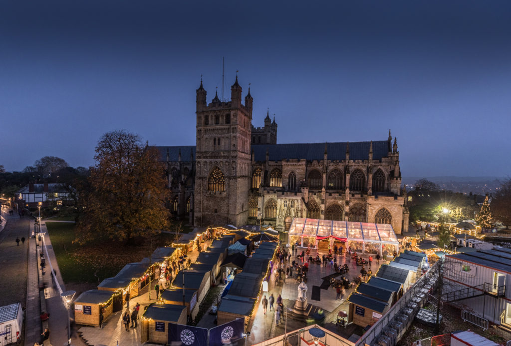 Exeter Cathedral Christmas Market 2021