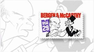 Ventriloquist Edgar Bergen stamp