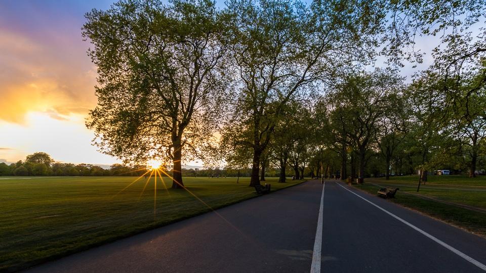hyde park sunset
