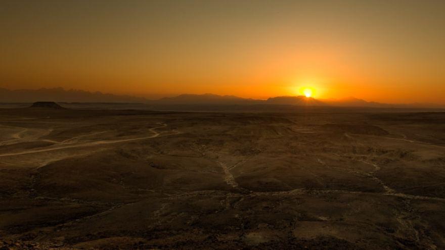 quad desert coucher de soleil