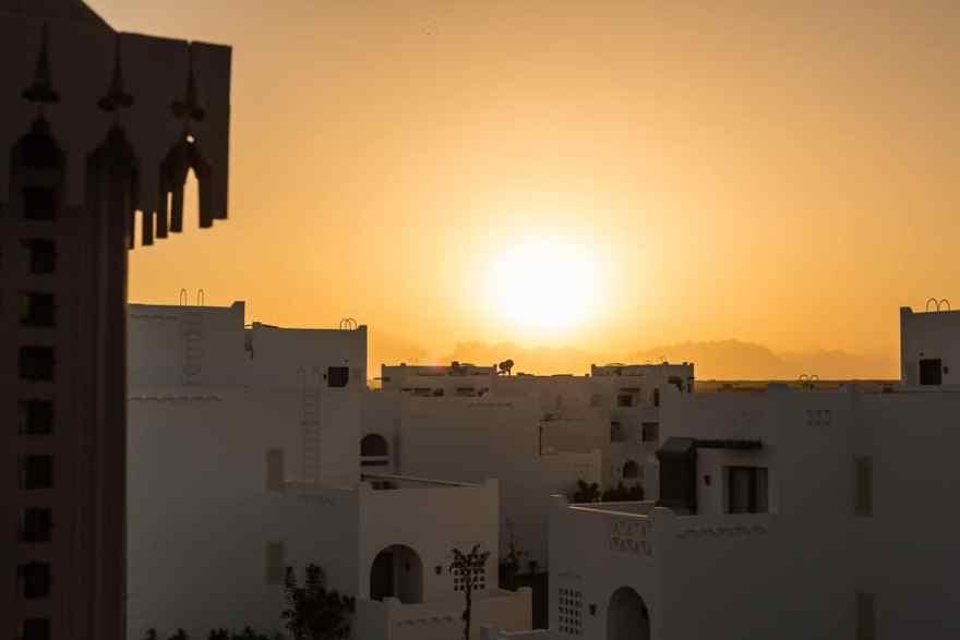 sunset hurghada