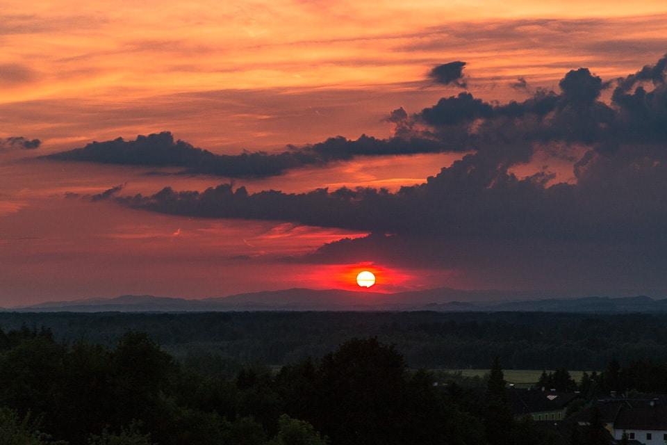 coucher soleil autriche