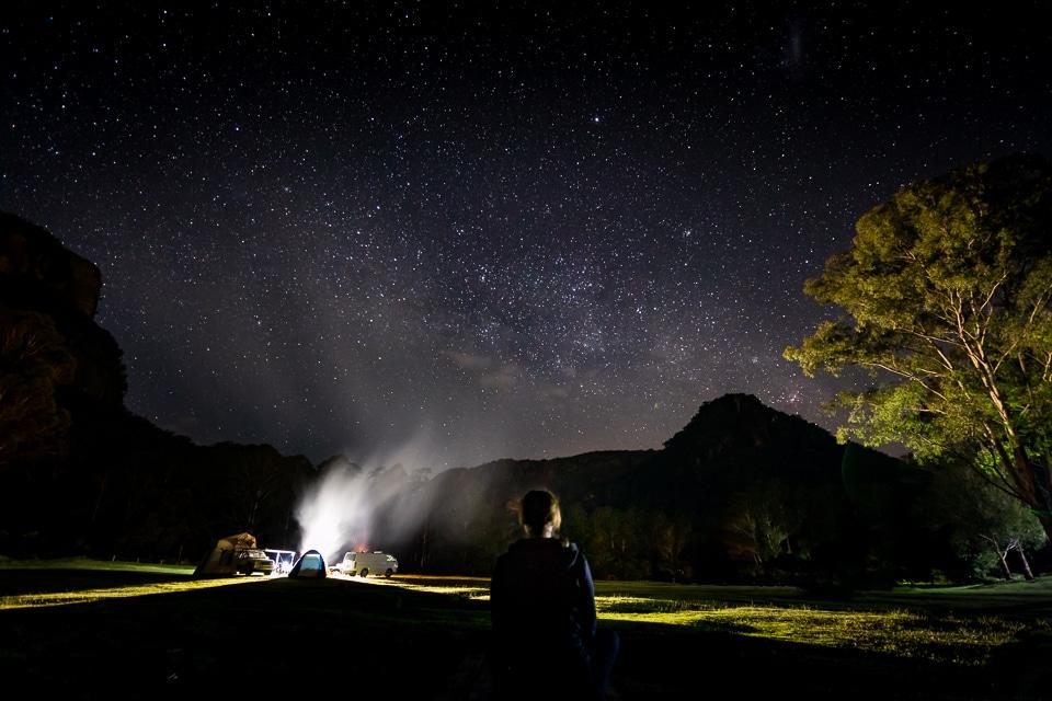 blue mountains étoiles