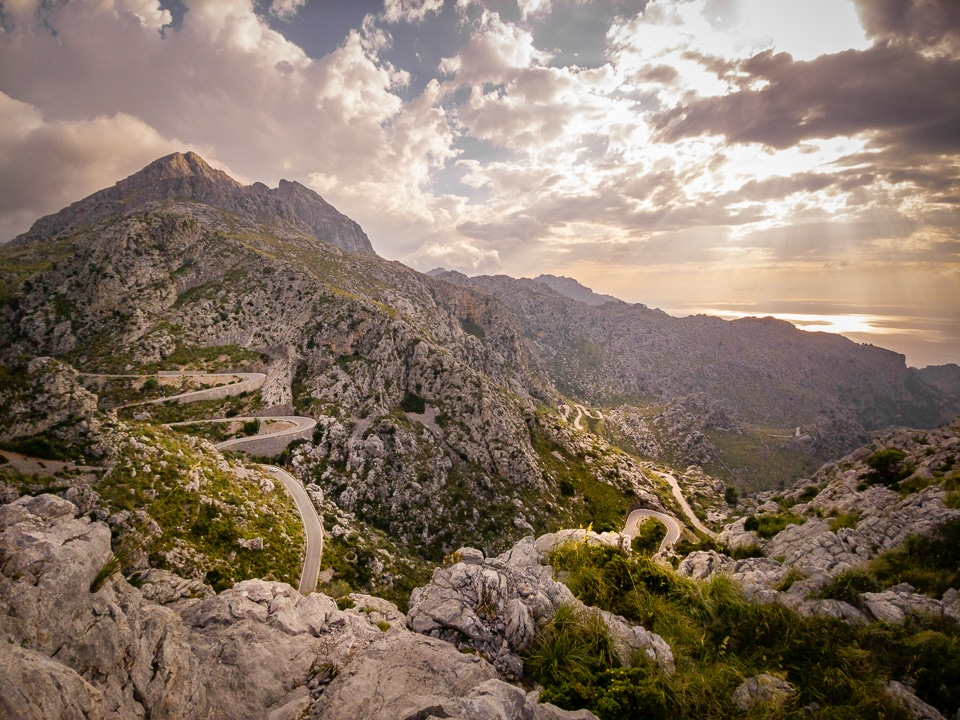 route sinueuse sa calobra