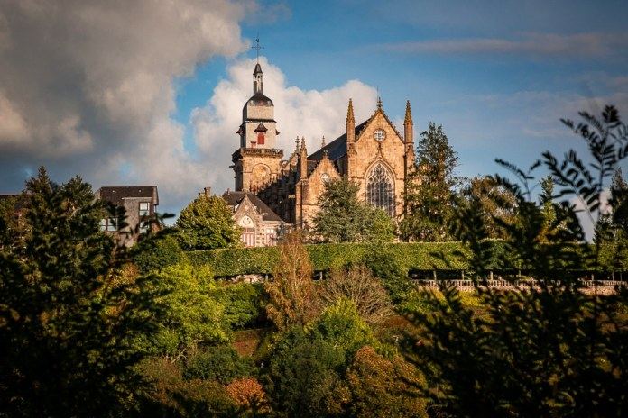 Fougeres church of saint leonard