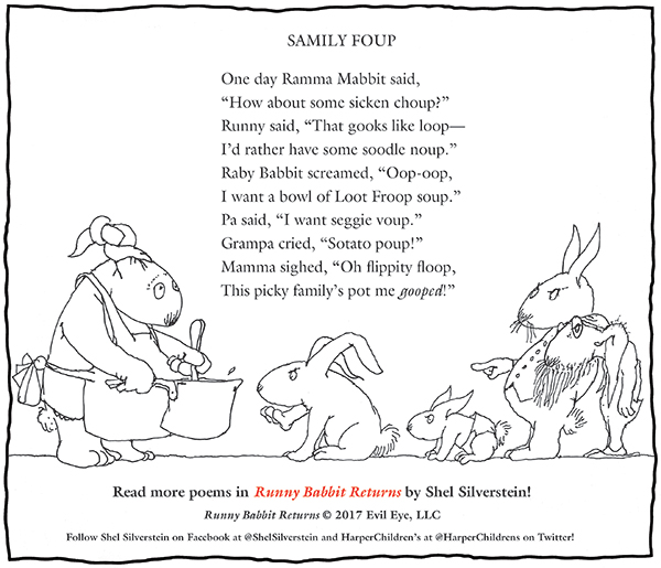 A Shel Silverstein Thanksgiving Message About Runny Rabbit Returns A ...