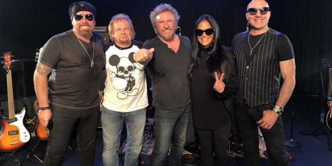 "Iconic Drummers Jason Bonham, Sheila E. and Kenny Aronoff play ""Wipeout"" with Sammy Hagar and Michael Anthony"