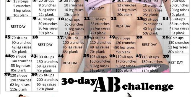 30 Days Ab Challenge