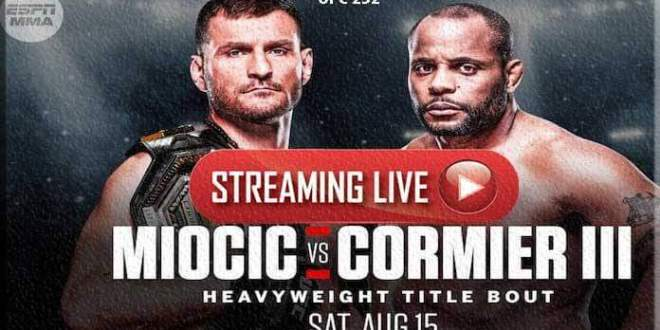 Watch UFC 252 live Streaming Free Reddit online