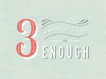 3 horas de sono são suficientes