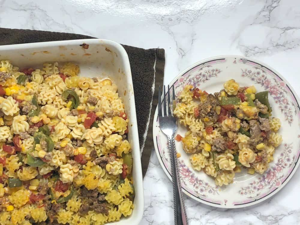 Beef Noodle Casserole 12 Servings